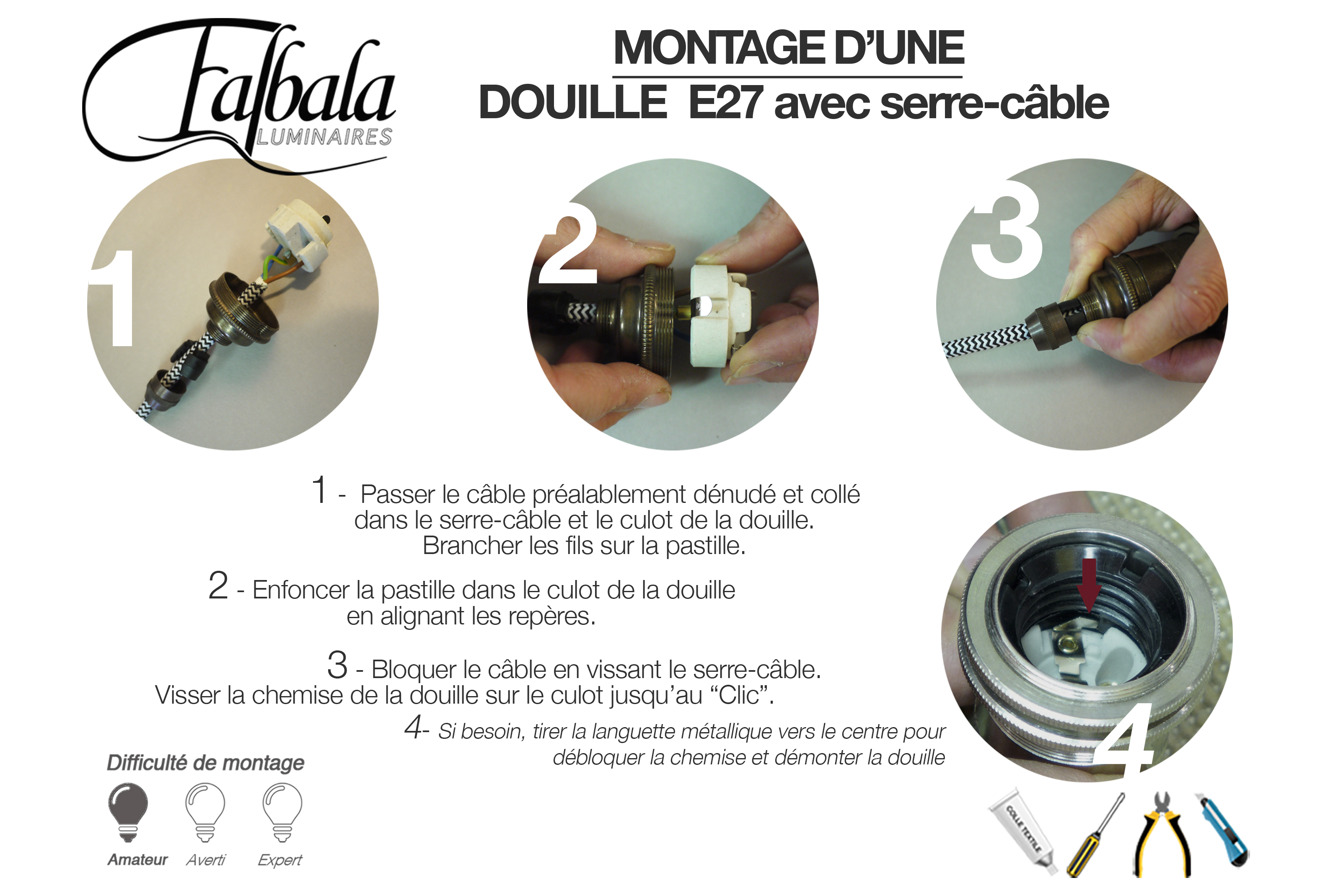 TUTO DOUILLE E27 AVEC SC-Falbala Luminaires